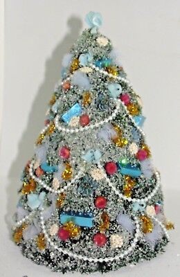 Dollhouse Miniature Decorated Christmas Tree Doll House signed / stamped EMC