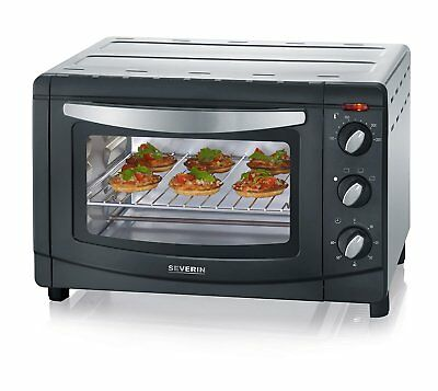 Severin To2060 Table Top Mini Oven, Black - Silver, 20L, 1500W