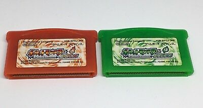 BOTH Pokemon Leaf Green & Fire Red Pocket Monsters GBA USA SELLER  AUTHENTIC