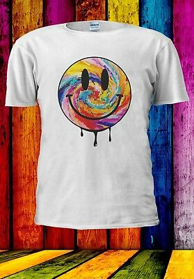 Acid Dripping Smiley Face Tie Dye House Rave Music Men Women Unisex T-shirt 909