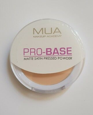 MUA Makeup Academy Pro Base Matte Satin Pressed Powder Ivory New and Sealed