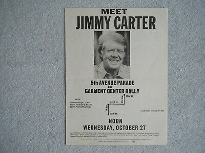 Jimmy Carter Campaign Flier  New York City