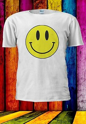 Acid Smiley Face Yellow House Rave Music 70's 80's Men Women Unisex T-shirt 914