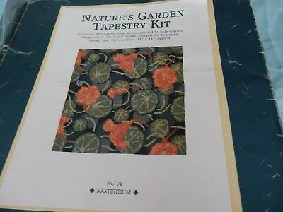 Nasturtium by Cleopatra's Needle Tapestry cushion kit -  36cms x 36cms  NEW