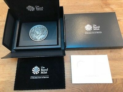 Royal Mint 250g .999 Silver Medal Coin St George & The Dragon In Case With COA