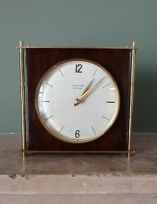 Mid Century Modernist Junghans Ato-Mat Mantle Clock German Movement Working