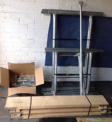 """Boards Option 3.5m Galvanised Steel DIY Scaffold Tower 4/' x 2/'6/"""" x 11/'6/"""" WH"""