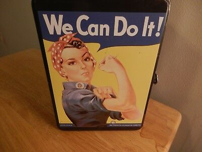 """Rosie the Riveter """"We Can Do It"""" Metal Lunch Box"""