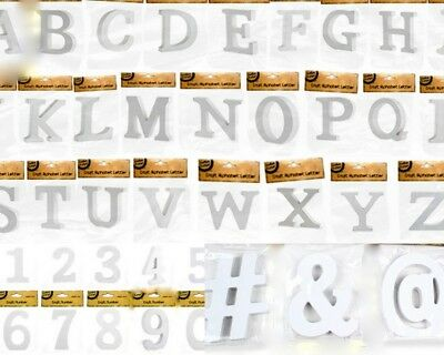 NEW 20cm Wooden Letter Words MDF Wooden White Letters&Alphabet Craft Home Decor