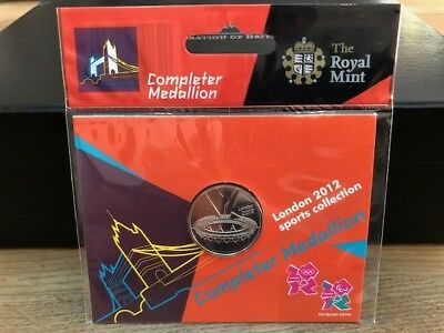 London 2012 Olympics COMPLETER MEDALLION 2012 Brand New Mint & Sealed In Pack