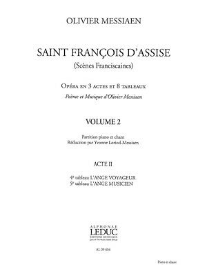 Olivier Messiaen Saint François D'Assise Vol.2 Vocal Score Play Opera MUSIC BOOK