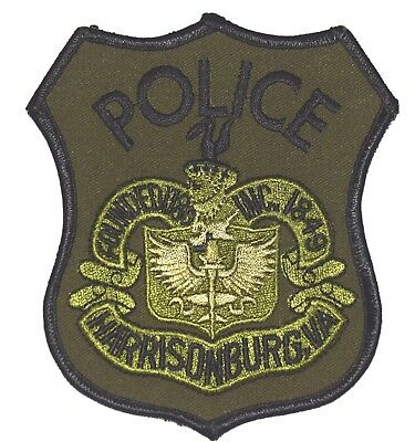 HARRISONBURG – SWAT - VIRGINIA VA Police Sheriff Patch SUBDUED CITY SEAL ~