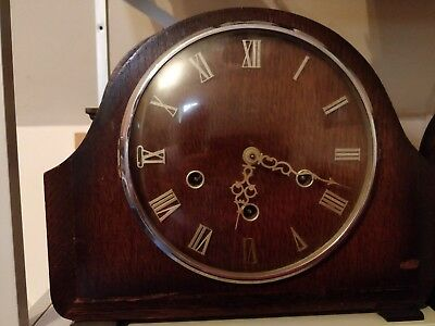 Vintage 1950s Smiths 8 Day Westminster Chimes Mantle Clock