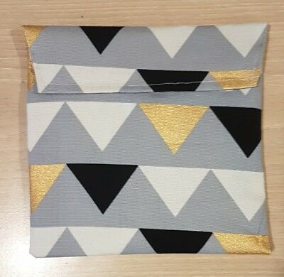 Triangle  Lunch Pocket Sandwich snack Wrap pouch recycled plastic hand made