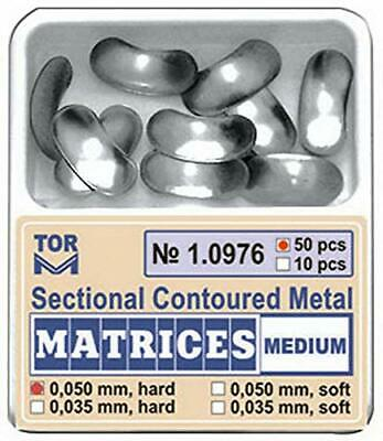 Dental Medium Sectional Contoured Matrices Matrix 50 pcs./pack TOR VM