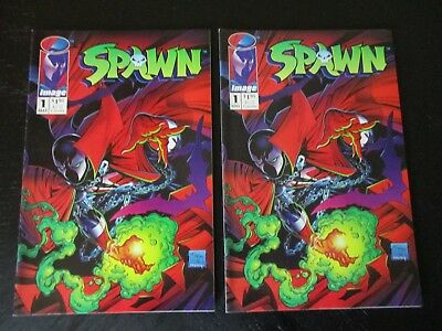 Spawn comic lot 2 issues of # 1  VFN+/NM
