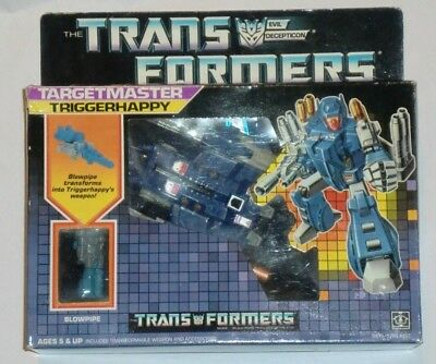 Transformers G1 Targetmaster Triggerhappy Boxed And Complete