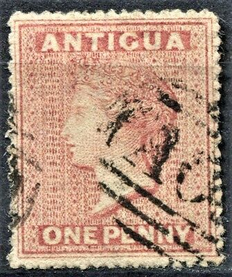Antigua 1863 issue, SG 6, 1d Dull Rose, used, CV £55