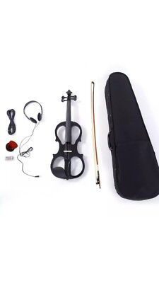 LOOK violin ELECTRIC 4/4 fab sound only tried out,headphones rosin bow cheap