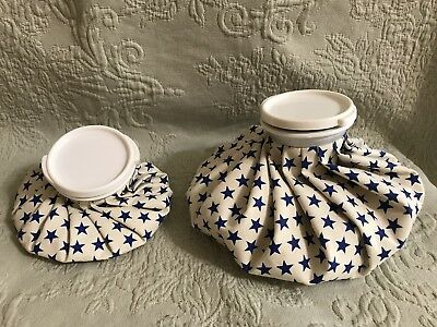 Vintage Hot Water Ice Pack Retro Cold Compress Bottle Set Stars Small Large