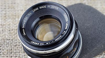EXC+ Canon 50mm FL lens f/1.8 1:1.8 for camera