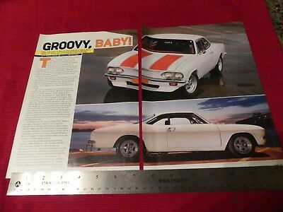 1969 Chevy Corvair carOriginal 2009 4-page article Great to frame!