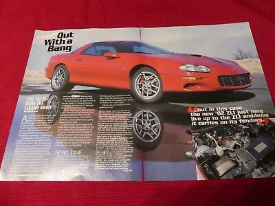 2002 Chevy Camaro ZL1 preview car Original 2002 4-page article Great to frame!