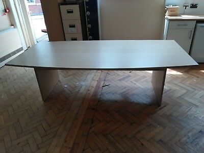 Large beech Meeting room desk Repaired by Site Manager