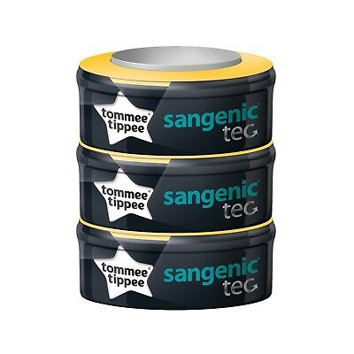 Tommee Tippee Sangenic Tec Refill x 3 Nappy Disposal Bin System Cartridge