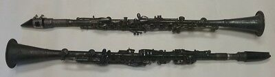 TWO ANTIQUE old vintage clarinets GLADIATOR CADET H.N. White Company Ohio MUSIC