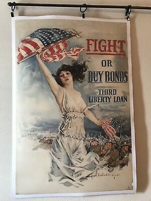 Original Howard Chandler Christy WW1 Liberty Loan Poster 1917