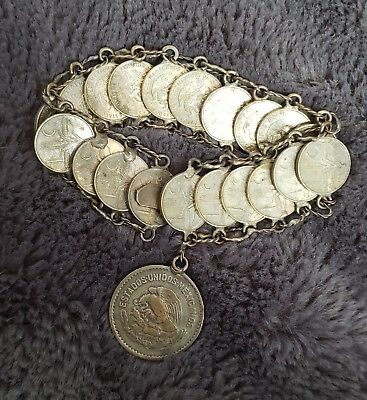 collectable 1944 hispanic coin bracelet