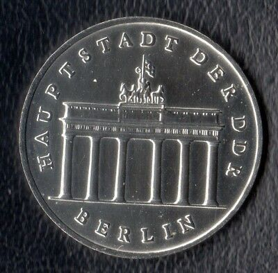 DDR 5 Mark 1987 Brandenburger Tor, BBT, stempelglanz, Original, nur 347.310, RAR