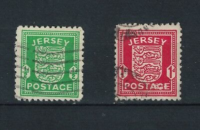 Jersey 1941/43 War Occupation Issues 1/2d and 1d Good Used S G 1-2 Cat £11.00