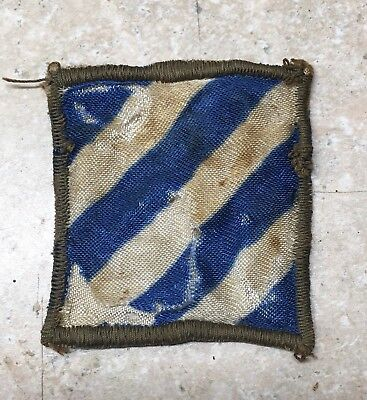 WWII US Army 3rd Infantry Division Silk Patch Italian Made
