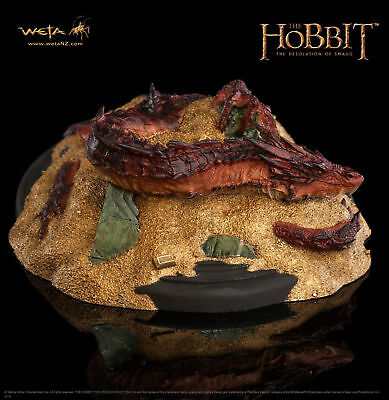 Weta Smaug the King under the mountain Statue Hobbit Herr der Ringe Neu !