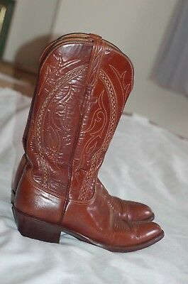 1ff0cd4c683 1883 X LUCCHESE 75096 Mens Boots 8 B Brown Ostrich Leather Western ...