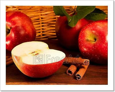Apples, Cinnamon Art Print Home Decor Wall Art Poster - E