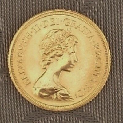 GOLD - Münze Sovereign 1 Brit. Pfund * 1981 * Queen Elizabeth II (QE II) * RAR *