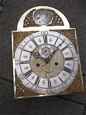 12X16+1/2inch 8DAY c1770 LONGCASE   CLOCK dial + movement