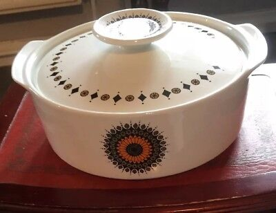 Vintage J&G Meakin Tureen/Serving Dish.Inca Design.Early '70s Wedding Gift.