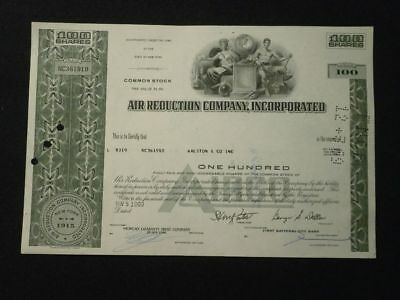 +++ Historische Aktie Air Reduction Company Incorporated 1969 +++