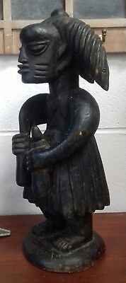 Antique African Heavy Wood Black Tribal Statue 45 cms