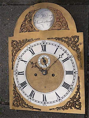 14 20inch 8DAY c1780 LONGCASE   CLOCK dial   movement