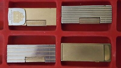 DUNHILL Rollagas/Rollalite (4) Lighters With Presentation Case - Pipedreamerdave