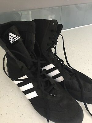 Adidas Box Hog 2 Boxing Boots - Men's Black Sports Shoes Trainers  Size 10 ASNEW