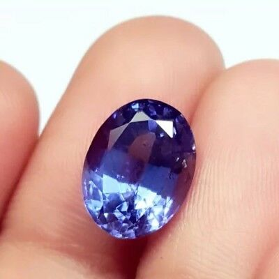 Wonderful 5.42 Ct Natural Oval Shape Certified Blue Sapphire Gemstone