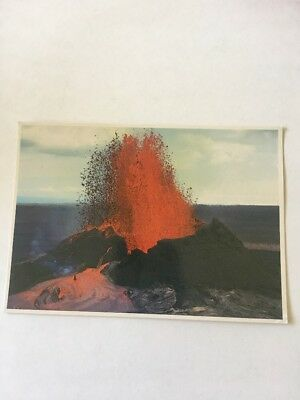 vintage hawaii postcard, Kilauea Eruption 1983