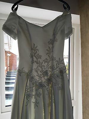 Designer Hand Made Satin And Lace Wedding Dress Size 10 Ivory White REDUCED !