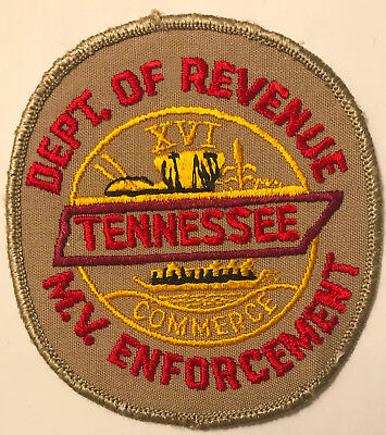 Department of Revenue Motor Vehicle Enforcement Tennessee Police Sheriff Patch